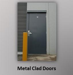 Metal Clad Commercial Doors
