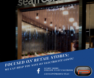 stripcurtains for retail stores