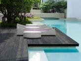 pool wood bed