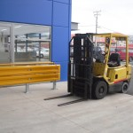 Forklift Safety - Barrier Rail - Wall protection